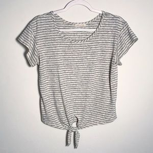 Anthropologie | striped tie-up tee M